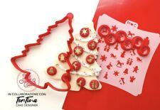 Albero Palline Stencil Christmas Cookie Cutter Formine Biscotti Natale