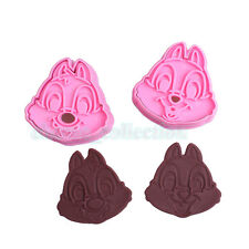 2pcs Chip N Dale Shape Plunger Cookie Cake Mold Cutters Biscuit Chocolate Mould