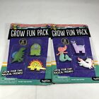 Lot of 2 YAY TOYSMITH Grow Fun Pack Just Add Water Includes 6 Grow Creatures