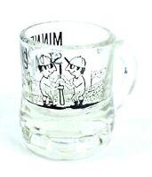 Vintage FEDERAL Mini MINNEAPOLIS MILLERS VS ST. PAUL SAINT Baseball SHOT GLASS