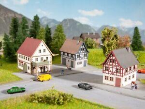 Noch Z Scale 44310 Village House KIT THREE (3) Houses w/Glue *NEW $0 SHIP