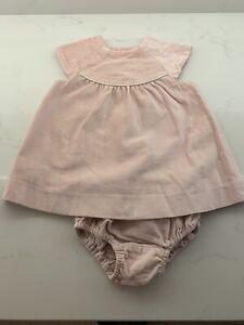 Zara Girls Dress Pink Velvet Age 9-12 Months