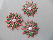 50 Applique Fiori in Raso di Cotone Per Cucito Artigianato creazione di biglietti Natale Decor