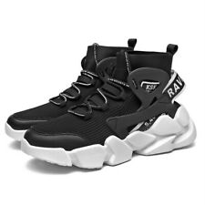 Men High-top Breathable Sneakers Outdoor Running Walking Athletic Trainers Shoes