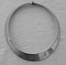 """LARGE Sterling Silver Flex Necklace 76 Grams 17-1/2"""" Long GENTLY Pre-Owned"""