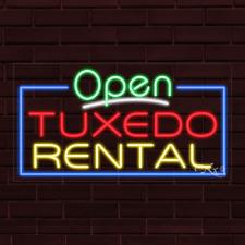 "Brand New ""Open Tuxedo Rental"" w/Border 37x20X1 Inch Led Flex Indoor Sign 35592"