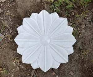 Decorative Lotus Plate Hand Carved Flower Bowl White Bowl Marble Made Plate