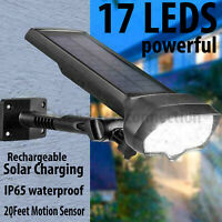 LED Solar Flood Light Motion Sensor Security Spot Wall Street Yard Outdoor Lamp