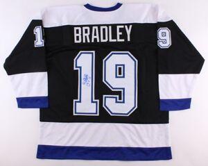 Brian Bradley Signed Lightning Jersey (JSA COA) Tampa's 1st ever goal scorer