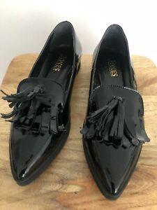 LADIES JONES BOOTMAKER BLACK PATENT LEATHER size 38