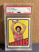 1972 Topps Julius Erving Rookie PSA 3 ABA Virginia Squires RC 76ers