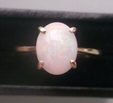 Women's 9ct Gold Opal Ring Weight 2.16g Size L 1/2 Stamped Quality Ring