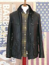 Rare Mens Barbour International Ariel Wax Sample black wax jacket Medium Duke