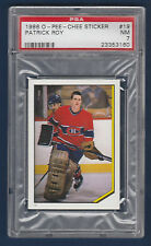 PATRICK ROY 86-87 O-PEE-CHEE STICKER 1986-87 NO 19 PSA 7  23353160