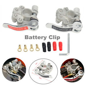 2x Pure Copper Universal Car Battery Terminal Disconnect Switch Link Heavy Duty