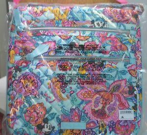 Disney Vera Bradley Mickeys Colorful Garden Triple Zip Crossbody Hipster Bag New