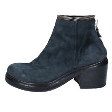 women's shoes MOMA 7 (EU 37) ankle boots blue suede BY908-37