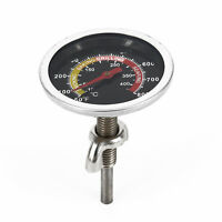 50~800℉ Barbecue BBQ Smoker Oven Grill Stainless Thermometer Temp Gauge Meter .