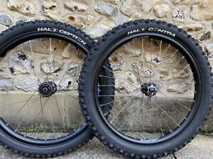 """DMR MTB Wheelset 24"""" With Halo Tyers + Cassette. Similar To Hope And Halo Wheels"""