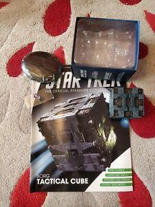 star trek eaglemoss models collection Borg Tactical Cube model and magazine mint