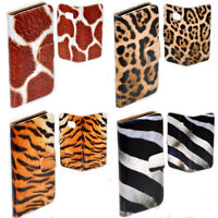 For Huawei Series Mobile Phone - Animal Fur Theme Print Wallet Case Phone Cover