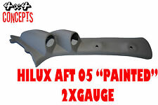 "to suit Toyota Hilux aft 05 DOUBLE PILLAR POD ""NEW"" NOT PAINTED  Black"