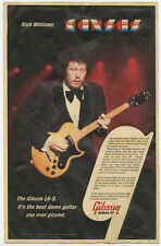 1970's Gibson L6-S guitar Rich Williams of Kansas poster 11 x 17 advertising