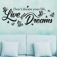 Don't dream your life live your dreams wall decal removable vinyl sticker mural