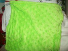 lime  green minky dot 36x30  personalized fleece   blanket
