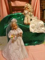 lot mannequin =la mariée et sa demoiselle d honneur +une belle robe