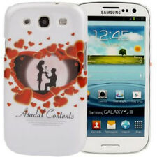Estuche duro heart pattern para Samsung i9300 Galaxy s3 día de san valentín/corazón rojo blanco