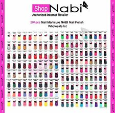 204pcs Nail Manicure NABI Nail Polish (wholesale lot) 204 different colors!