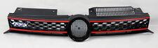 VW Golf/GTI/Jetta MK6 10-14 Black w/ Red Honeycomb Hex Mesh Front Grill