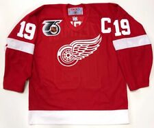 STEVE YZERMAN 1991 DETROIT RED WINGS CCM NHL 75th JERSEY SIZE LARGE