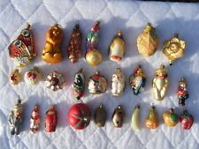 Vintage Christborn Glass Ornaments Lot of 26 Germany EUC!
