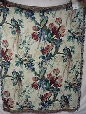 USA Made NWT Parrots Of Guadalupe Tapestry Throw Blanket Afghan #540
