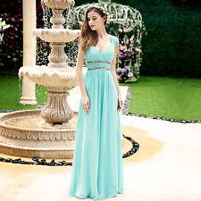 Women's Long Bridesmaid Dresses Cap Sleeve Homecoming Prom Party Dresses 08697