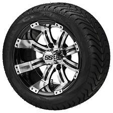 Set of ITP 12 SS LSI HD Aluminum Alloy Golf Cart Car Rims Wheels & Tires Mounted