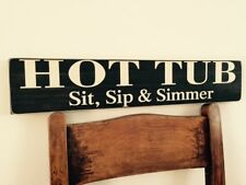 Hot Tub Sign BBQ Party Pub Hotel Man cave Pool Garden Club Funny
