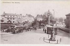Barnstaple,U.K.The Square,Clock Tower,Old Cars,Devon,c.1909
