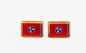 Tennessee State Flag Cufflinks--United States of America USA South US Patriotic