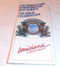 VINTAGE 1984 WORLD'S FAIR BOOKLET  NEW ORLEANS LA. MAILED OUT TO HOMES