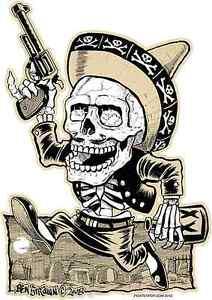 Muertos Bandito Sticker Decal Artist Ben Von Strawn BV4