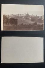 France, panorama de Murol Vintage albumen print CDV.  Tirage albuminé  6,5x1