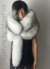 New: Saga Blue Fox fur stole wrap. Detachable tail.