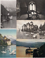 Lot 52 cartes postales anciennes 1945 à 1985 SUISSE SCHWEIZ CHATEAU DE CHILLON