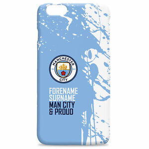 PERSONALISED Manchester City Man City Gifts - Proud Hard Back Phone Case