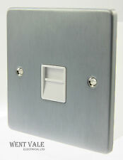 GET Ultimate Low Profile - GU7562WBC Brushed Chrome Secondary Telephone Socket