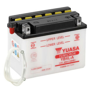 Batterie Kawasaki KLR 250 D KL250D Bj. 1989 YUASA YB4L-A offen ohne Säure