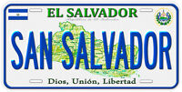 El Salvador Aluminum Any Name Personalized Novelty Car License Plate
